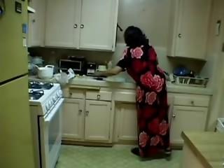 Plump Elder Grandmother With Large Saggy Billibongs Copulates