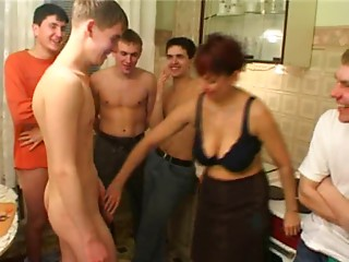 Birthday guy bonks his friend's mamma with dudes