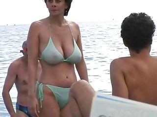 Sexy Mother I'd like to fuck in Bikini at The Beach