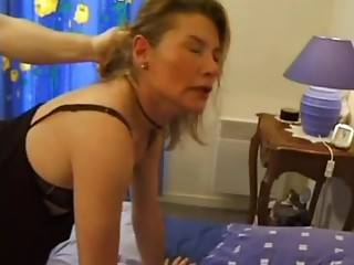 FRENCH PORN 5 butt slam old mother cougar and younger guy