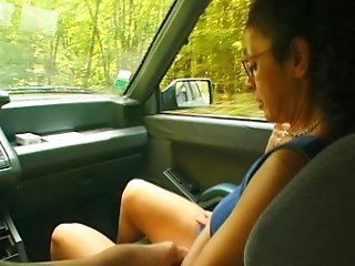 French old unshaved housewife outdoor