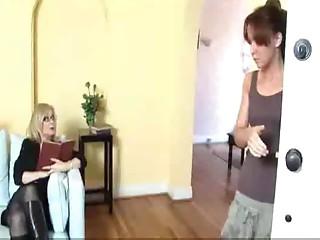Aged Woman Seduces Shy Youthful Girl...F70
