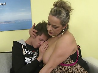 Wicked cougar fucking not her son