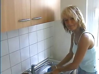 European housewife acquires drilled at home