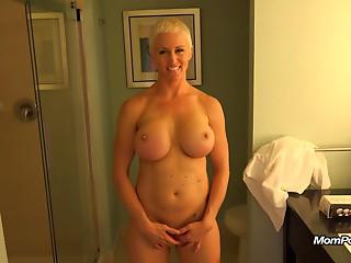 Big breasted MILF is a total freak