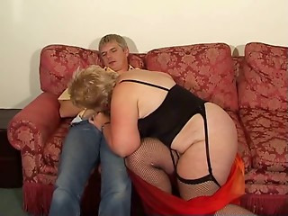 Blond Shorthair BBW-Granny by youthful Fellow