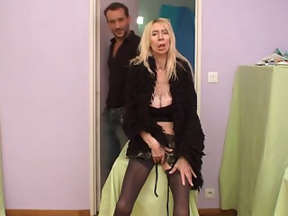 French unsightly older whore Marie-The anorexique