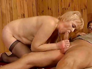 Aged ladies drilled hard in full movie scene