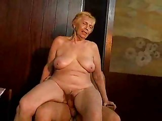 Aged ladies drilled hard in full movie scene