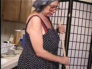 Bang Her Elder Hirsute Muff