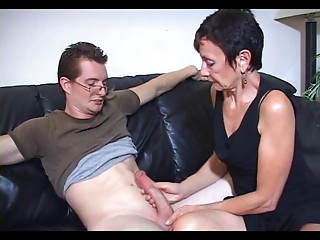 Mum Marie makes his large schlong cum