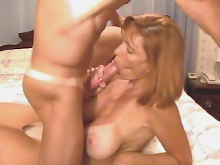Cum in large Titted Matures face hole and Bumpers