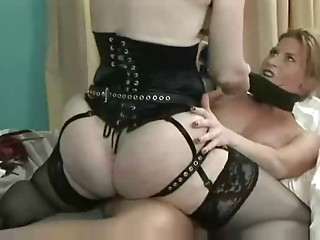 Nina Hartley and Ariel in hawt thong on act of love