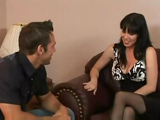 Hawt Dark brown Milf Rayveness Bangs Friend's Son