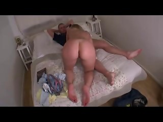 Hawt Mommy in Bedroom Drilled By Youthful Lad