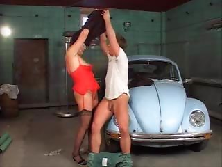 excited german grandmother drilled by youthful fellow