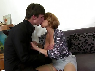 Hot bigtitted mama engulf and bang not her son