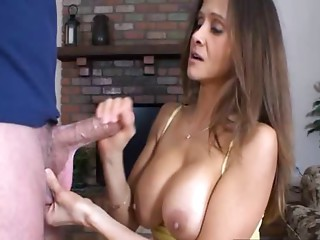Caught step-son jacking off