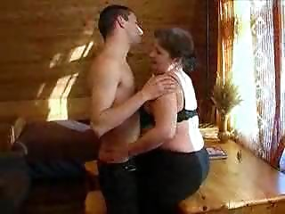 Big breasted Old slut And Youthful Man