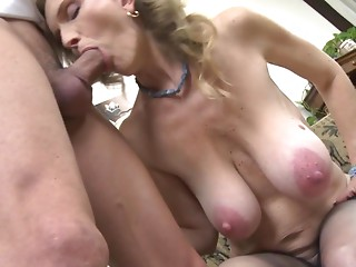 Sexy older sex with messy mommy and son