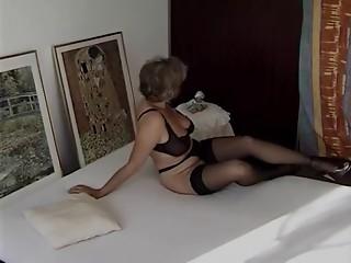 hawt grandmother in dark nylons getting drilled