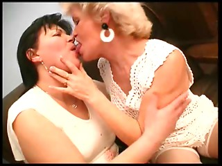Curly Old bitch Lesbian babes