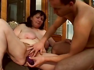 Chubby Aged Pumped in Her Bushy Pussy By TROC