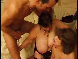 2 Hottest French Matures , wild sex with youthful guys