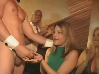Male Stripper receives Sucked Off by Sexy Woman