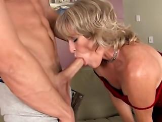 Slutty elder got her vagina cum filled