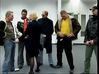 Blond GERMAN Old Angel Team-fucked