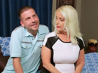 hot grandmother 65y goes to porn