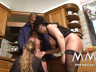 MMV Films 2 elder wifes sharing a jock