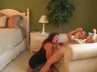 Stepmammy & Stepson Affair Seventy one (stepMommys Trick - Fake)