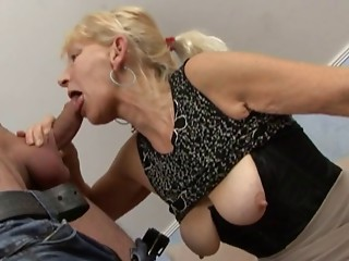 Blond German Old slut