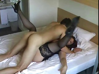 Spruce Cougar copulates and sucks youthful man
