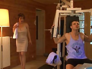 hot old babes copulates in gym