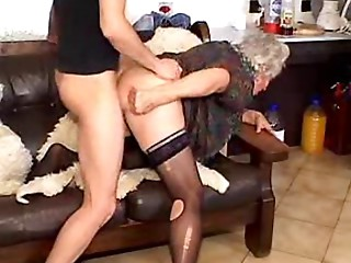 Grannies can't live without to please juvenile studs I