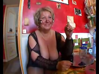 Hawt hairless obese grandmother in nylons fucking with 2 fellows
