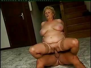 This bbw gran enjoys a wonderful romp with an mature man