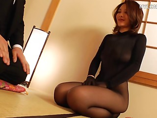 excited hose shag nylons sex nylon