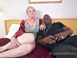 Breasty Old slut in Creampie Clip