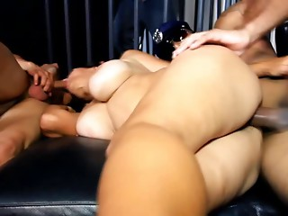 Mom's Huge black meat Team fuck