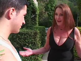 Hot Old slut Anastasia Sands Seduces Younger Man