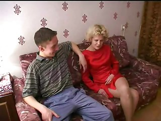 Russian mom and a ally of her son! Amateur!