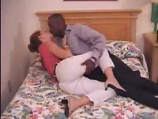 MILF elder non-professional mamma making love to her dark boyfriend