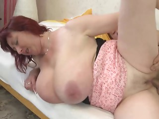 Excellent Huge-Boobs-Milf drilled by youthful Fellow