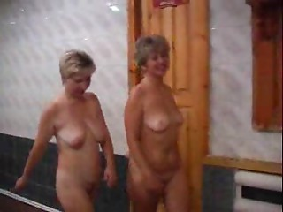 Russian whores drilled in sauna