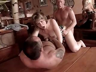 Sexy GERMAN 2 german butt slam young slut three-some elder mama MILF