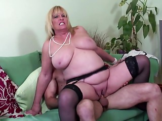 Large boobed old hawt mom screwed by youthful paramour